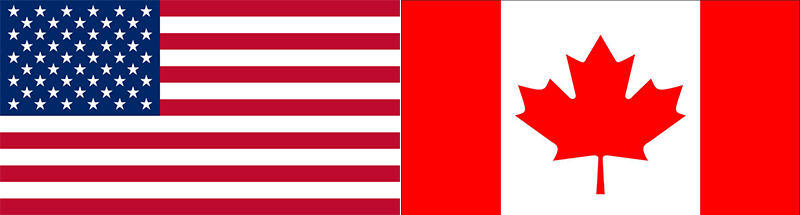 us canadian flags